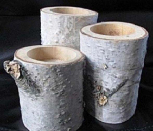 78 birch tea lights holders