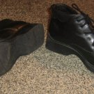 FADED GLORY * Girls shoes sz 4 black ankle high BOOTS Shoes