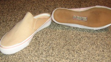 US POLO * Womens sz 7.5 beige canvas casual flats SHOES