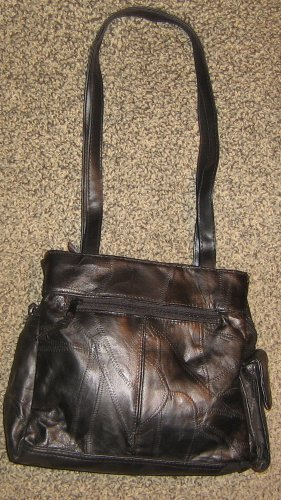 Brand NEW * Womens black everyday shoulder bag PURSE with 3 compartments
