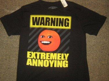 NWTS * ANNOYING ORANGE * Mens sz LARGE black graphic tee Shirt