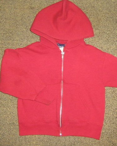HONORS * Boys sz 6 7 SMALL red casual Hoodie JACKET coat
