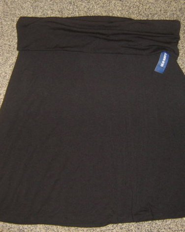 NWTS OLD NAVY * Tall Womens sz X-LARGE black roll-top SKIRT