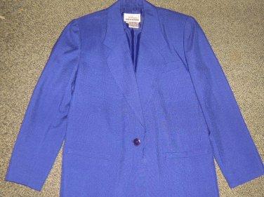 WORTHINGTON * Petite Womens sz 6 blue career BLAZER jacket