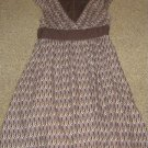 DEREK HEART * junior Womens sz MEDIUM M brown cotton Dress sundress