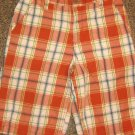 OLD NAVY * Boys sz 12 burnt orange plaid cotton SHORTS pants