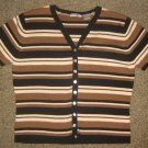 PAUL HARRIS * Womens sz MEDIUM brown Casual SHIRT