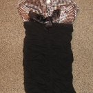 MIEKO MELLUCCI * Womens sz SMALL S sexy black & white party Dress
