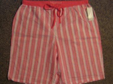 NWTS * NAUTICA * Womens sz SMALL logo cotton pajama SHORTS