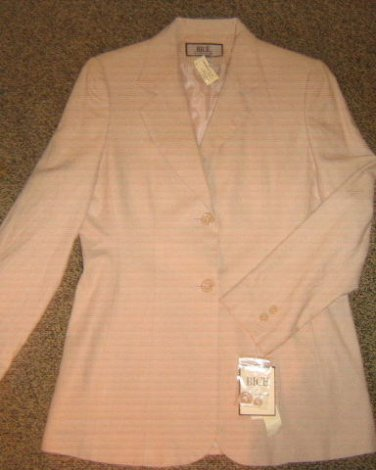 NWTS * SAG HARBOR BICE * Womens sz 10 beige career Blazer Jacket coat