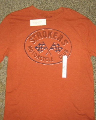 NWTS * SONOMA * Mens sz Large orange graphic Motorcycle club tee Shirt
