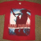 BRAD PAISLEY * Mens sz MEDIUM red cotton Concert tour tee SHIRT