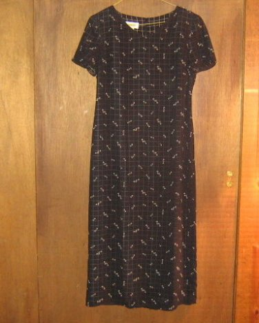 TALBOTS * Petite Womens sz 4 black floral Dress