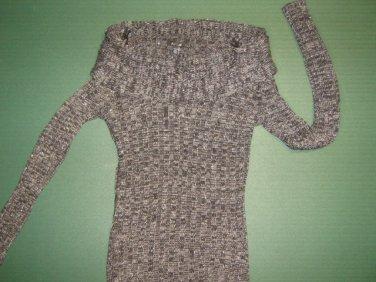 NWTS APT 9 petite womens sz x-small XS black gray & sparkle sweater shirt