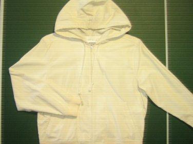 Caribbean Joe petite womens sz medium M  off white cotton corduroy jacket coat