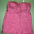 Forever 21  womens sz SMALL S plum purple silk cami shirt