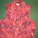 Christopher & Banks womens sz SMALL S pink purple orange zipper VEST