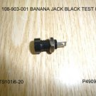108-0903-001 BANANA JACK BLACK TEST PLUG