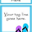 Ecrater logo set ~ coordinating logo & home page pic (#001 flipflops blue)