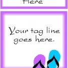 Ecrater logo set ~ coordinating logo & home page pic (#002 flipflops purple)