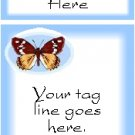 Ecrater logo set ~ coordinating logo & home page pic (#005 butterfly light blue)