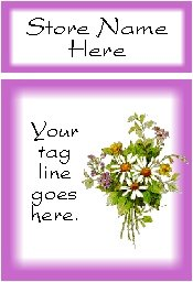 Ecrater logo set ~ coordinating logo & home page pic (#011 wildflower bouquet)