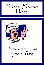 Ecrater logo set ~ coordinating logo & home page pic (#019 chef cook)