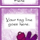 Ecrater logo set ~ coordinating logo & home page pic (#020 purse & gloves)