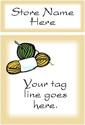 Ecrater logo set ~ coordinating logo & home page pic (#021 crochet yarn)