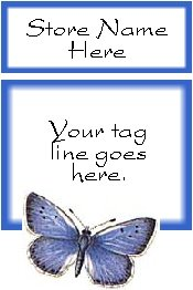Ecrater logo set ~ coordinating logo & home page pic (#023 blue butterfly)