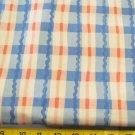 "BTY PINK BLUE PLAID HEAVY ALL COTTON FABRIC 56"" (3374)"