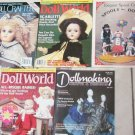 5 DOLL MAGAZINES, DOLL WORLD, DOLL CRAFTER, SPOOL DOLLS  360479140994
