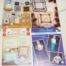 4 SOUTHWEST, QUILTS, HOPSCOTCH, CROSS STITCH PATTERN BOOKLETS
