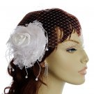 White Laced Fascinator