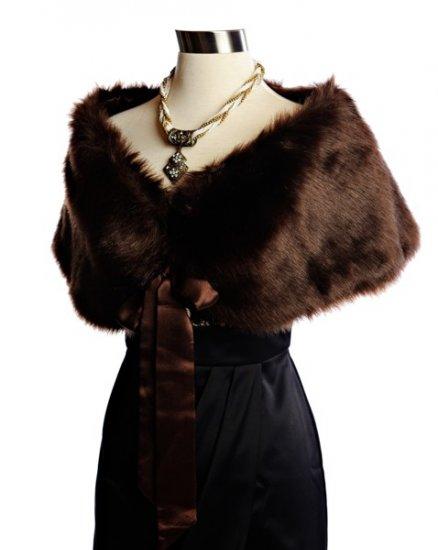 Sable faux fox shawl Small or XL
