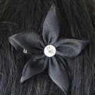 Black Chiffon Star Bridal Fascinator