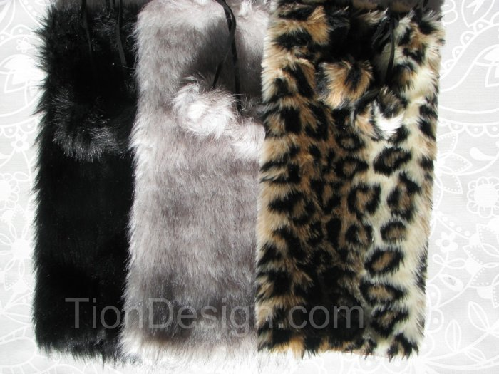 Leopard Faux Fur Leg Warmers for kids