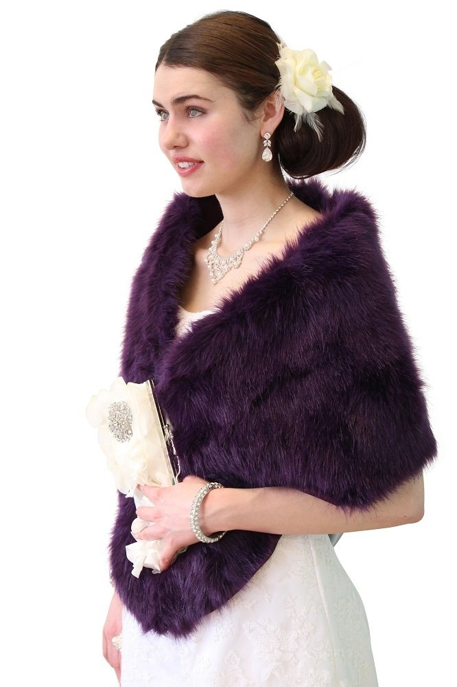 Purple Faux Fur Stole on Christmas Sale | Tion Design | MN