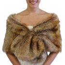 Bridal fur Stole Vintage Brown on Spring Sale 800NF-VBRN