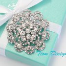 Bridal Brooch, Austrian Crystal Brooch #54C FREE US shipping