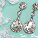 Silver Clear Crystal Bridal Earrings BE-CZ03