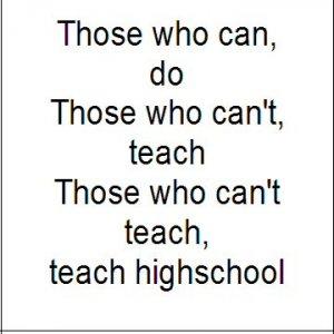 High School Teachers...