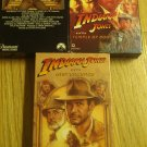 Raiders of the lost ark, Indiana Jones and the temple of doom, and the last crusade, vhs lot