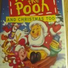 Winnie the Pooh and Christmas too ( VHS ) [ Clamshell ]