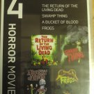 MGM 4 Movie Collection: - Return Of The Living Dead / Swamp Thing / A Bucket Of Blood/ Frogs