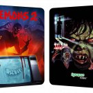 DEMONS 2 , BLU-RAY/DVD COMBO STEELBOOK LIMITED TO 3,000 COPIES ( ONE PRESS ONLY )