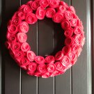 Summer Wreath in Shocking Pink