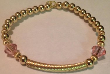 Pink Swarovski Crystal Kids Bangle