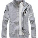 Uniform Style Single-button Cotton Men's Coats Grey