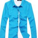 Cotton Shirts Green, sky blue, black